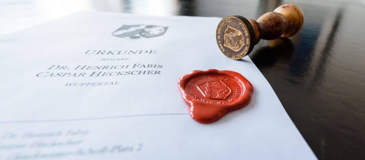 Neuigkeiten Notare Fabis Heckscher Wuppertal